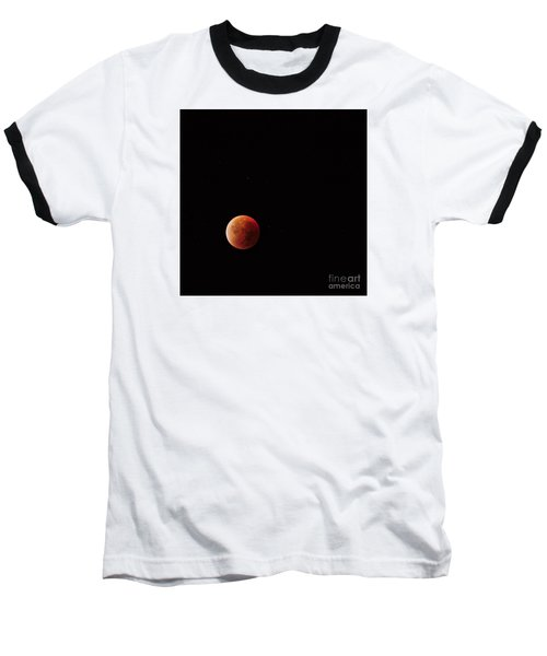 Blood Moon Baseball T-Shirt by Angelo DeVal