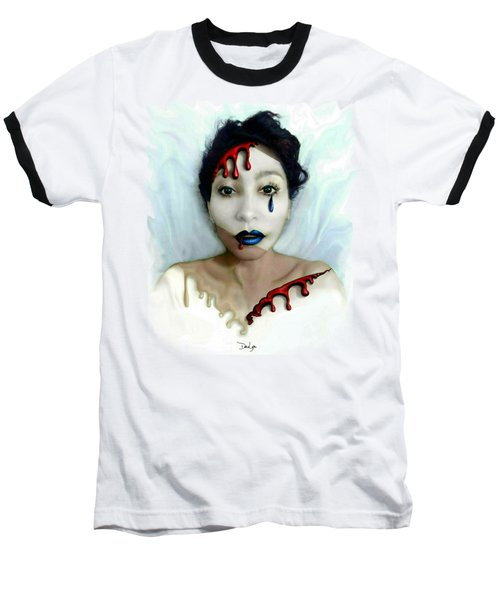 Blood Sweat Tears Faced Baseball T-Shirt