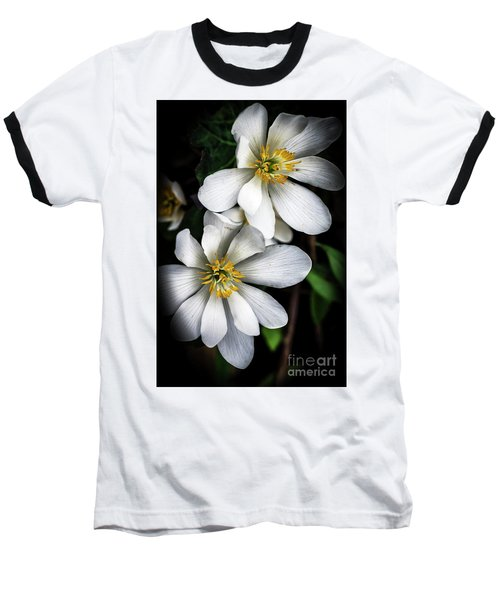 Baseball T-Shirt featuring the photograph Bloodroot In Bloom by Thomas R Fletcher