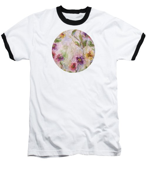 Baseball T-Shirt featuring the painting Bloom by Mary Wolf