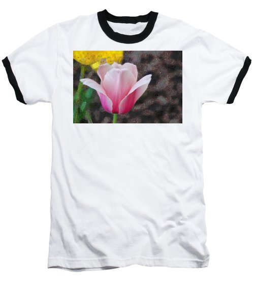 Baseball T-Shirt featuring the mixed media Bloomin' by Trish Tritz