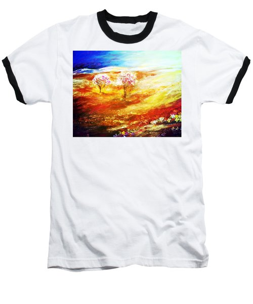 Baseball T-Shirt featuring the painting Blossom Dawn by Winsome Gunning