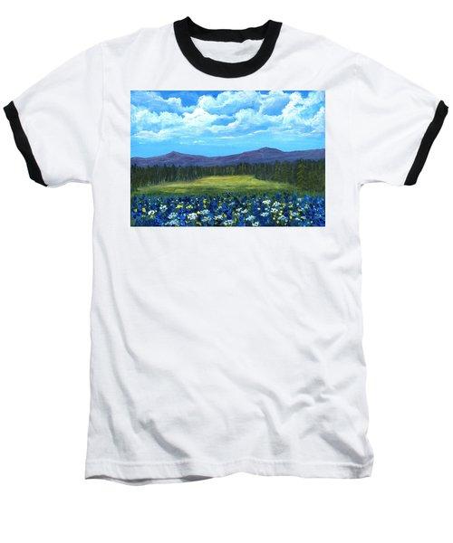 Baseball T-Shirt featuring the painting Blue Afternoon by Anastasiya Malakhova