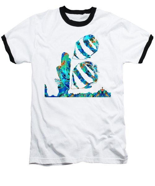 Blue Angels Fish Art By Sharon Cummings Baseball T-Shirt by Sharon Cummings