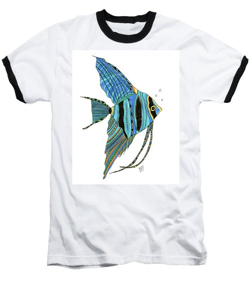 Blue Anglefish Baseball T-Shirt