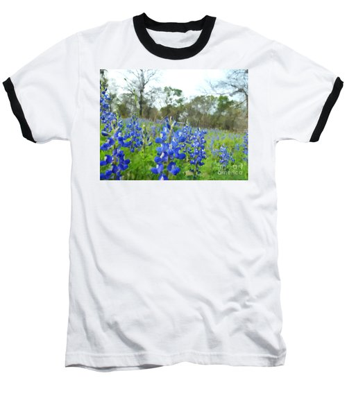 Blue Bonnet Explosion II Baseball T-Shirt by Carolina Liechtenstein