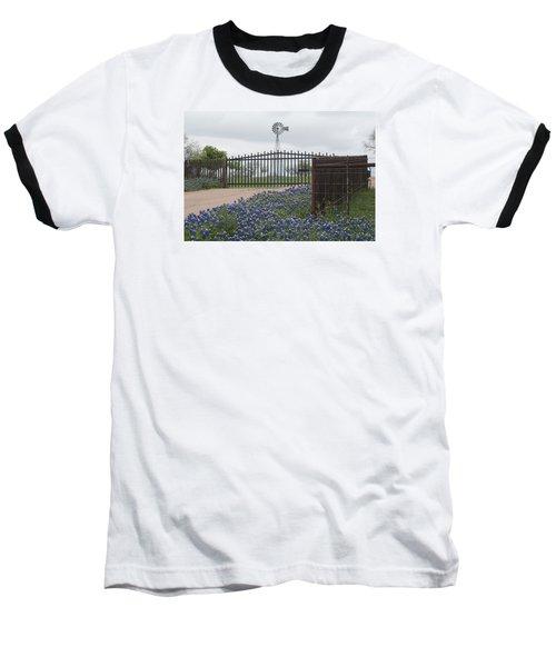 Blue Bonnets By Gate Baseball T-Shirt