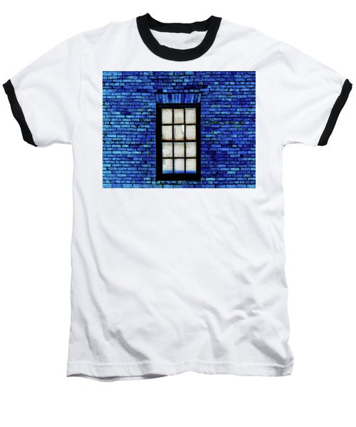 Baseball T-Shirt featuring the digital art Blue Brick by Robert Geary