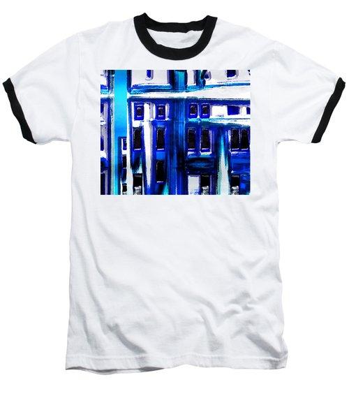 Blue Buildings Baseball T-Shirt