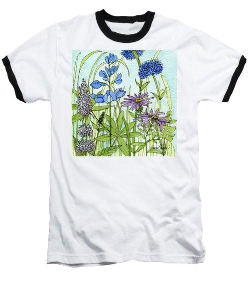 Blue Buttons Baseball T-Shirt