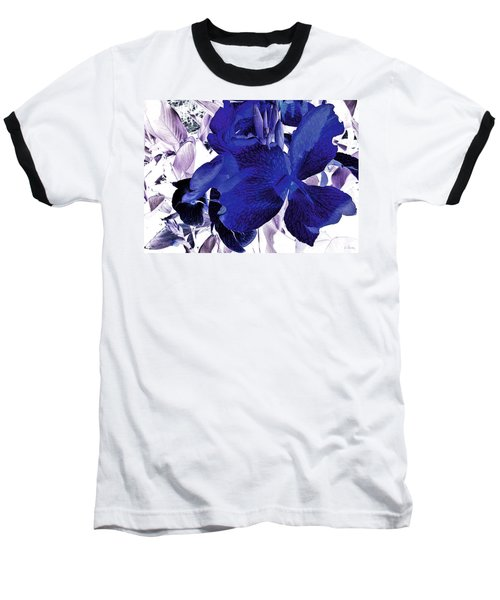 Baseball T-Shirt featuring the photograph Blue Canna Lily by Shawna Rowe
