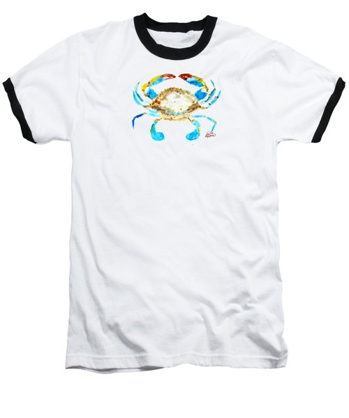 Blue Crab By Jan Marvin Baseball T-Shirt