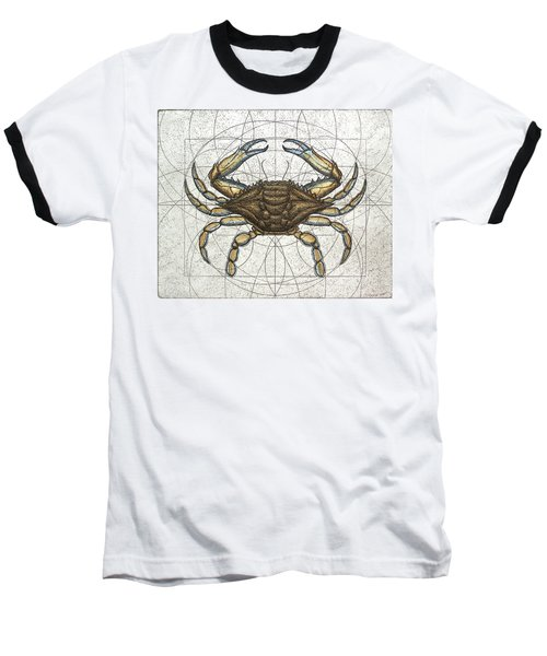 Blue Crab Baseball T-Shirt by Charles Harden