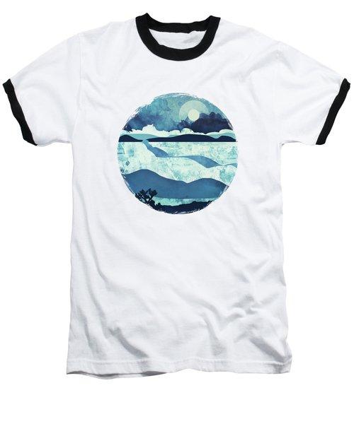 Blue Desert Baseball T-Shirt by Spacefrog Designs