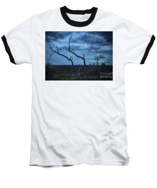 Blue Evening  Baseball T-Shirt