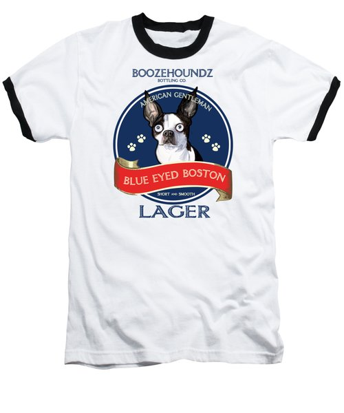 Blue Eyed Boston Lager Baseball T-Shirt