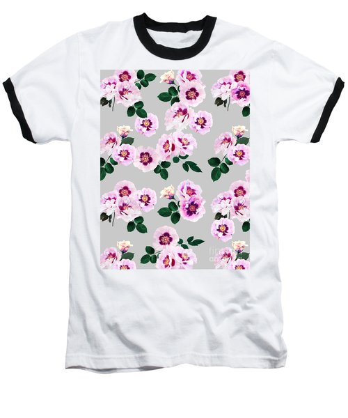 Blue Eyes Roses Baseball T-Shirt