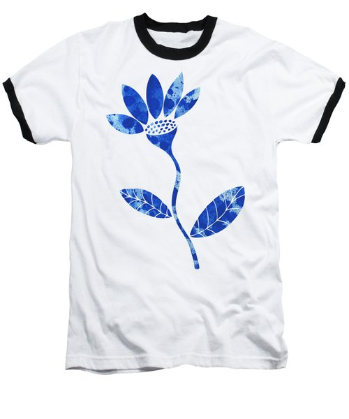 Blue Flower Baseball T-Shirt by Frank Tschakert