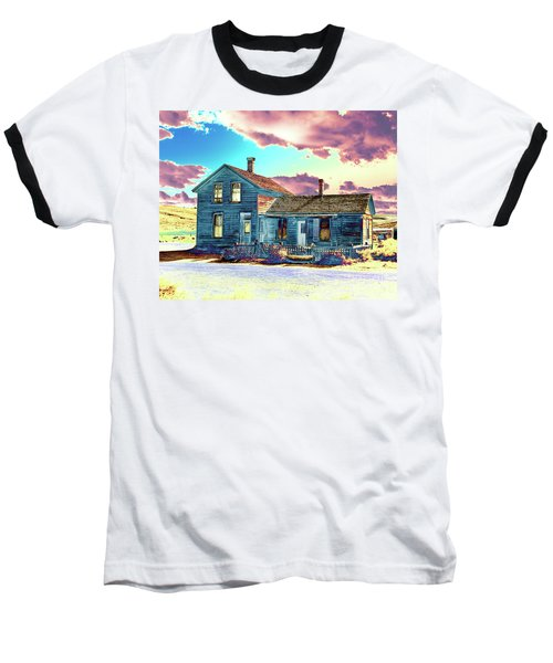 Blue House Baseball T-Shirt by Jim and Emily Bush