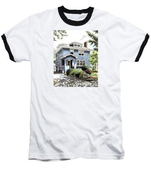 Blue House Baseball T-Shirt