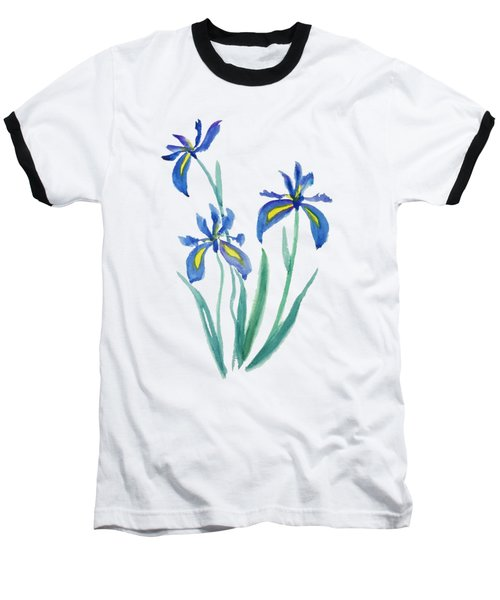 Blue Iris Baseball T-Shirt by Color Color