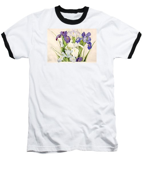 Blue Irises-posthumously Presented Paintings Of Sachi Spohn  Baseball T-Shirt by Cliff Spohn