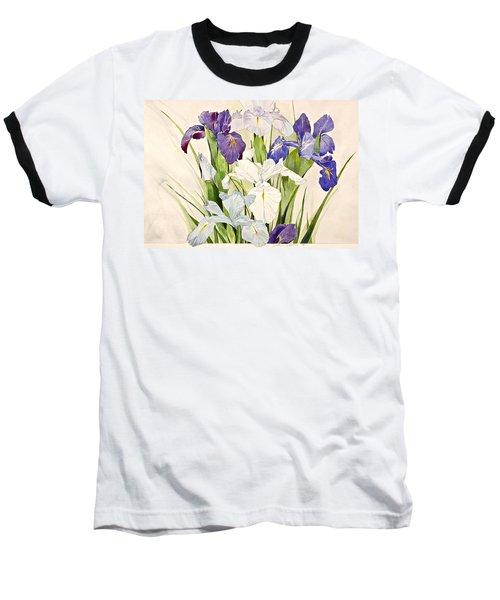 Blue Irises-posthumously Presented Paintings Of Sachi Spohn  Baseball T-Shirt