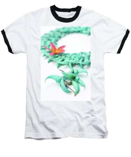 Blue Jade Lei Baseball T-Shirt
