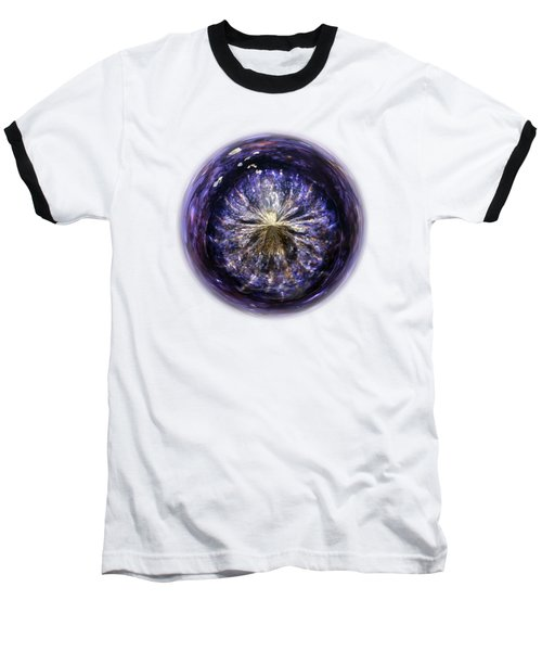 Blue Jelly Fish Orb On Transparent Background Baseball T-Shirt by Terri Waters