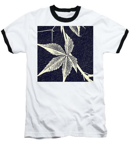 Blue Leaf Baseball T-Shirt
