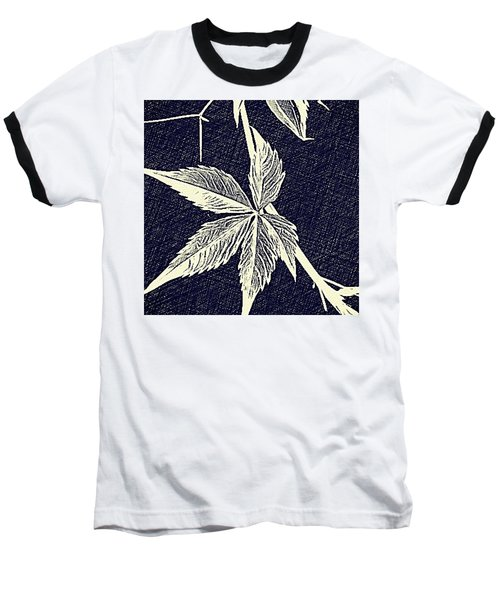 Blue Leaf Baseball T-Shirt