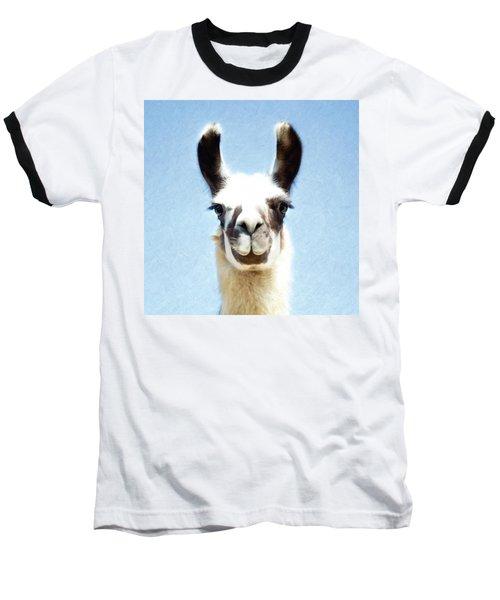 Blue Llama Baseball T-Shirt