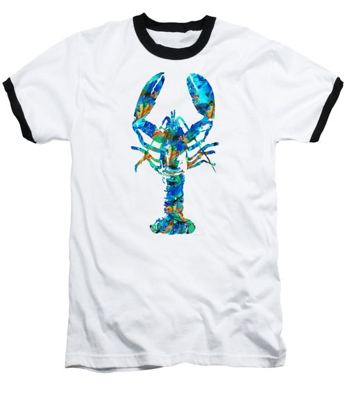 Blue Lobster Art By Sharon Cummings Baseball T-Shirt by Sharon Cummings