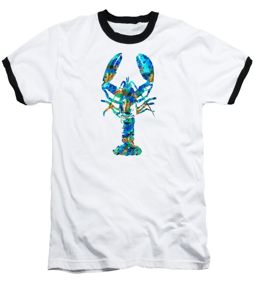 Blue Lobster Art By Sharon Cummings Baseball T-Shirt
