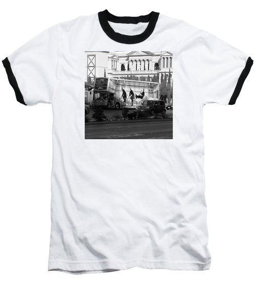 Blue Man Group On Bus Baseball T-Shirt