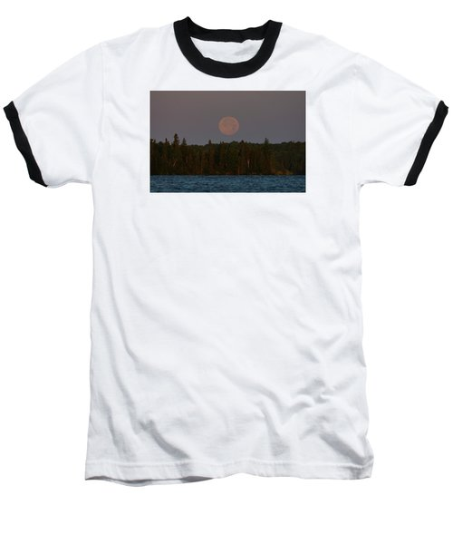 Baseball T-Shirt featuring the photograph Blue Moon Over Berry Lake by Steven Clipperton