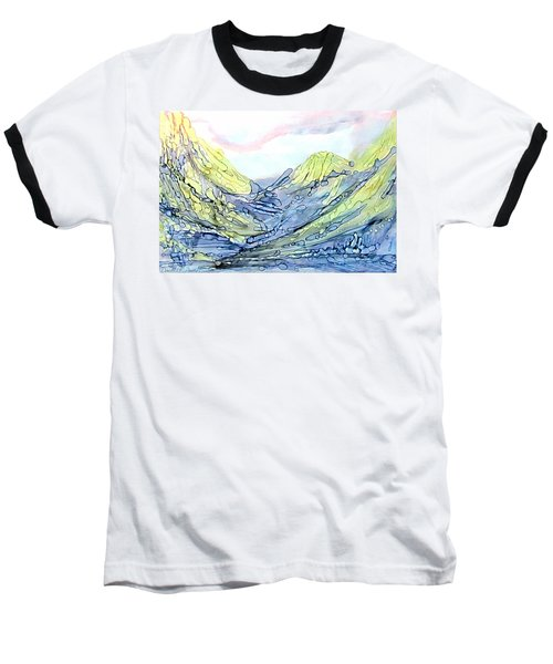 Blue Mountains Alcohol Inks  Baseball T-Shirt