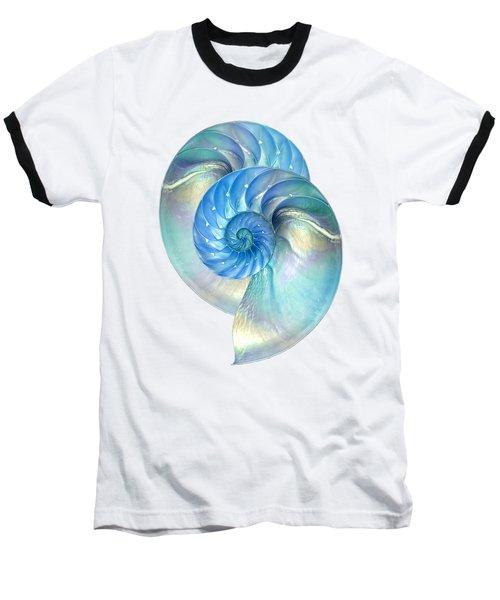 Blue Nautilus Pair Baseball T-Shirt