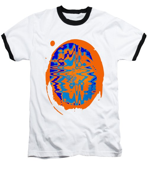 Blue Orange Abstract Art Baseball T-Shirt