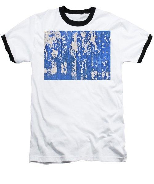 Blue Painted Metal Baseball T-Shirt