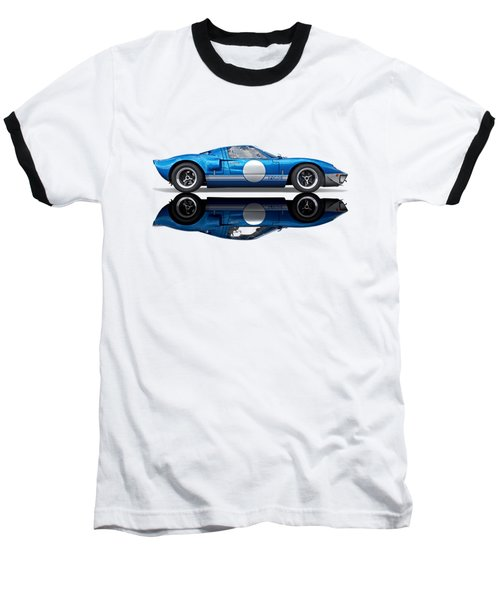 Blue Reflections - Ford Gt40 Baseball T-Shirt
