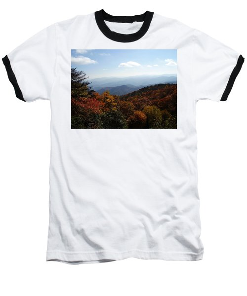 Blue Ridge Mountains Baseball T-Shirt by Flavia Westerwelle