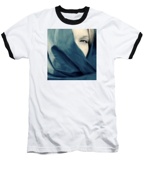 Blue Shawl #02953 Baseball T-Shirt by Andrey  Godyaykin
