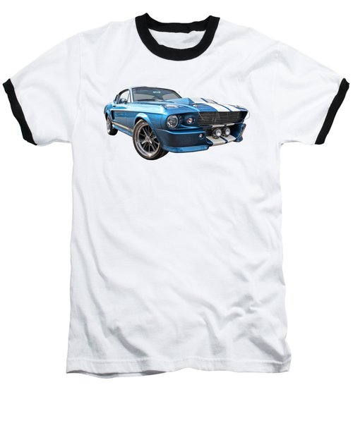 Blue Skies Cruising - 1967 Eleanor Mustang Baseball T-Shirt