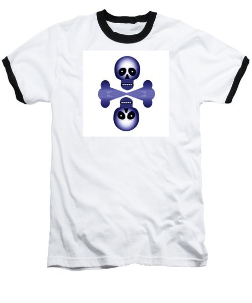 Blue Skulls Baseball T-Shirt