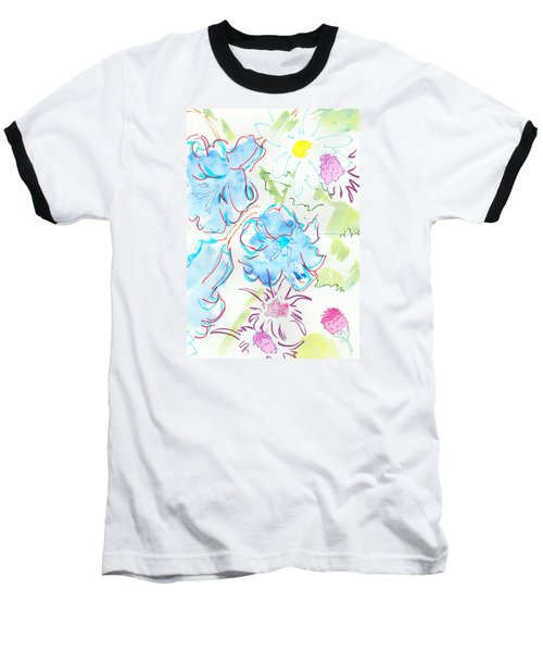 Bluebells English Wild Flowers Baseball T-Shirt