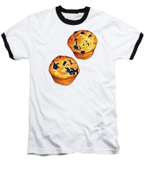 Blueberry Muffin Pattern Baseball T-Shirt