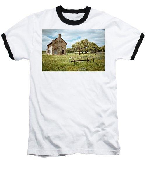 Baseball T-Shirt featuring the photograph Bluebonnet Dreams by Linda Unger