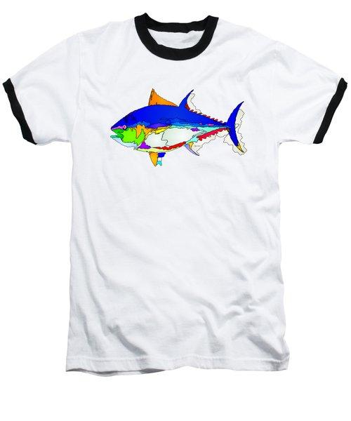 Bluefin Tuna  Baseball T-Shirt by Rafael Salazar
