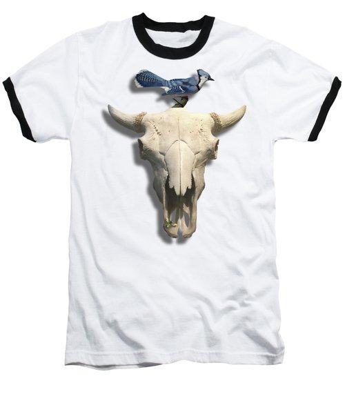 Bluejay And The Buffalo Skull Baseball T-Shirt
